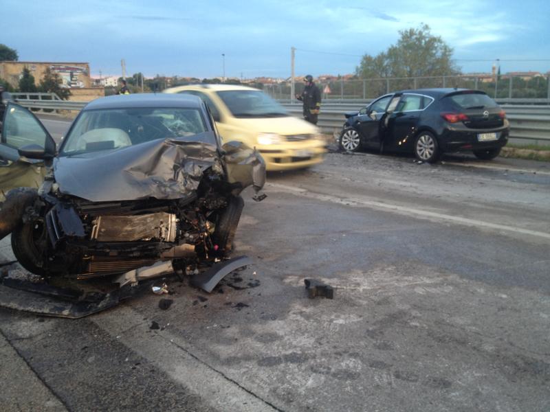la volkswagen Polo coinvolta nell'incidente