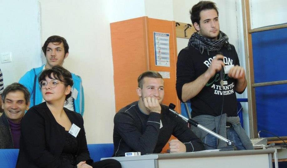 Alcuni studenti dell'Alberghiero di San Benedetto