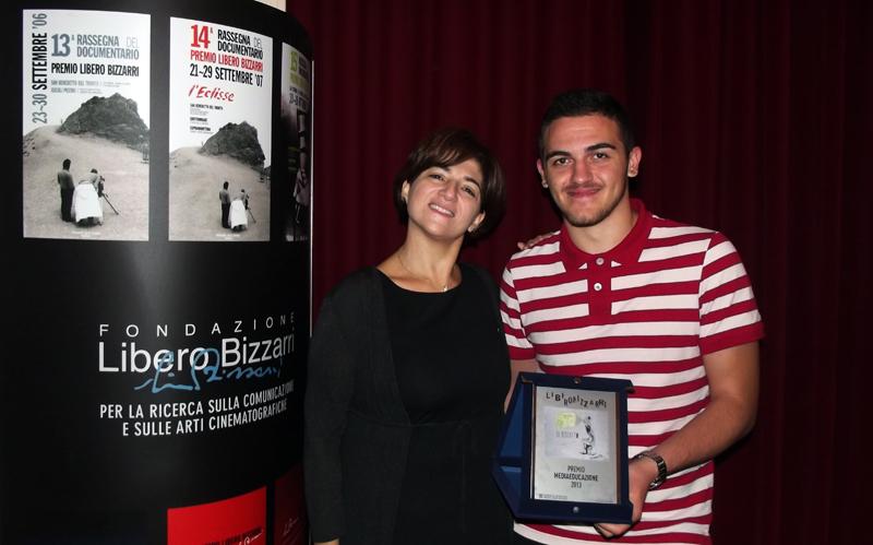 Arnold Mezini e la professoressa Giulia Pulcini