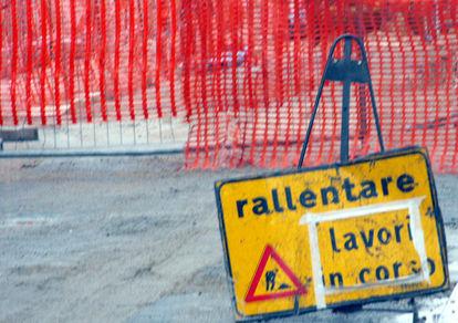 Chiusura del ponte a causa dei lavori di ampliamento