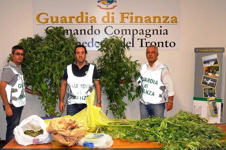 Guardia di Finanza, operazione sequestro marijuana in casa