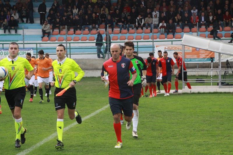 Portorecanati 0-2 Samb, ingresso in campo