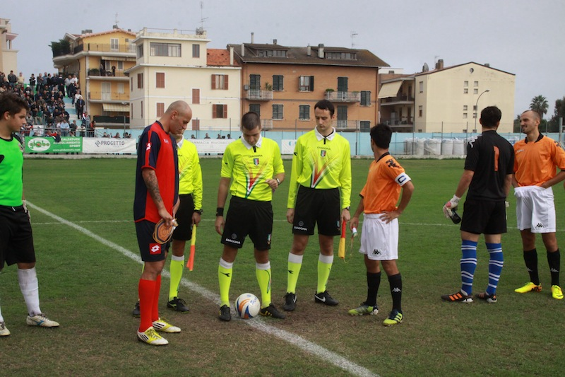 Portorecanati 0-2 Samb, ingresso in campo 2