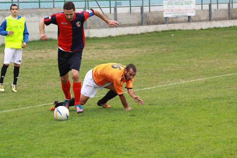 Portorecanati 0-2 Samb, Traini in azione