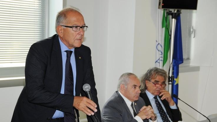 Il presidente di Confindustria Bruno Bucciarelli durante Expo Piceno 2013