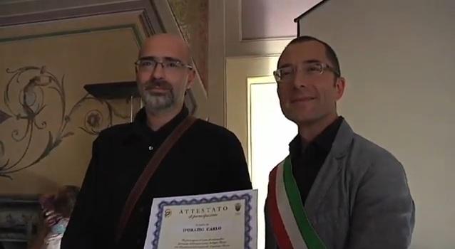 Paolo Rossetti premia i vincitori del concorso Videomaker