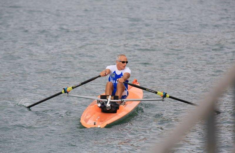 Nella foto Riccardo De Falco durante la gara