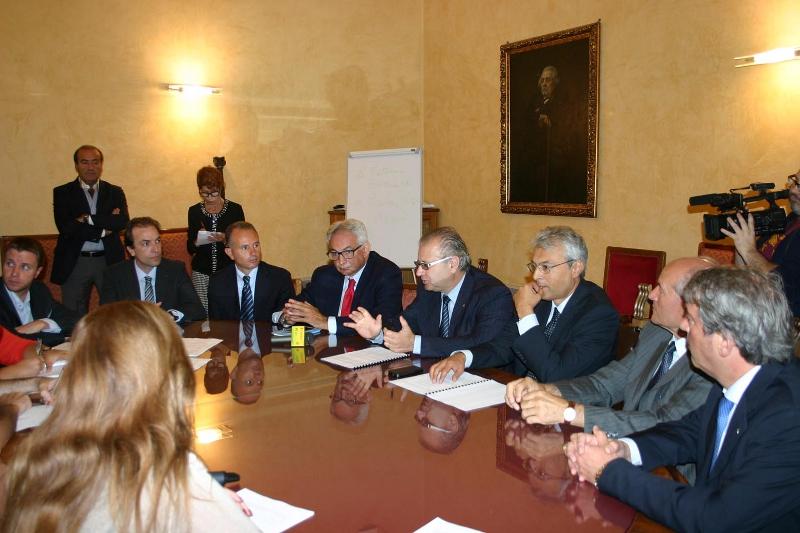Un momento della conferenza stampa del 1 ottobre