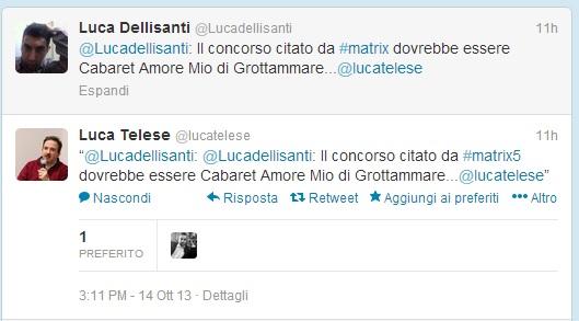 Tweet di Luca Telese