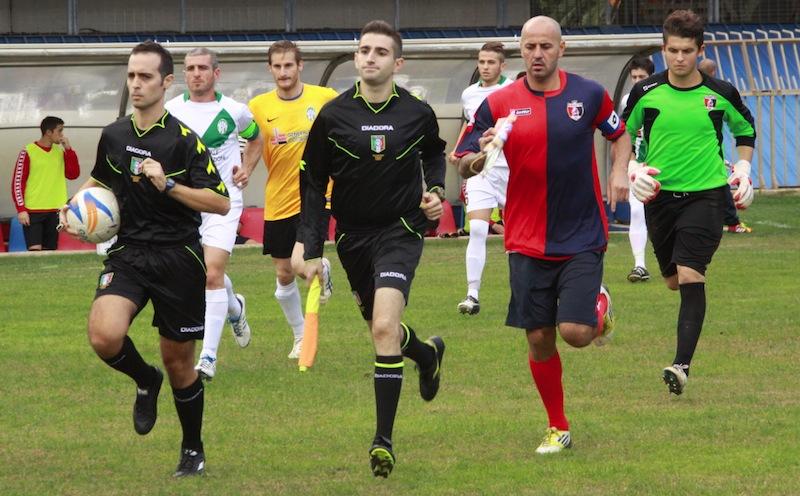 Samb-Castelfidardo 2-1, l'ingresso in campo