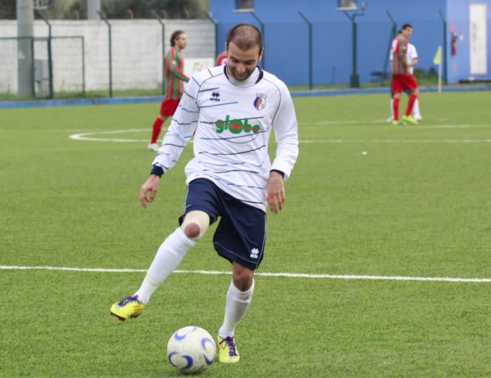 L'attaccante Mauro Travaglini, oggi match winner della gara