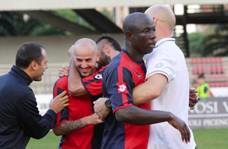 Samb-Castelfidardo 2-1, festeggiamenti finali