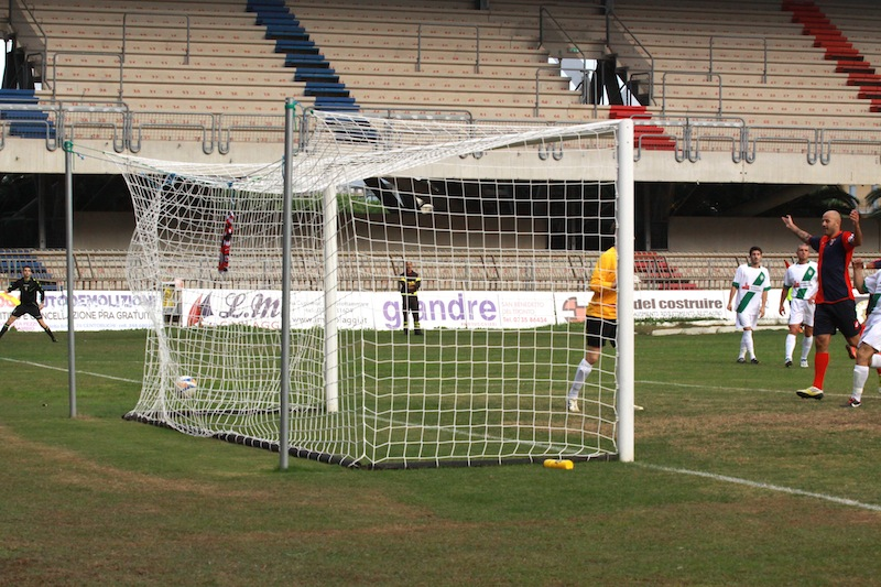 Samb-Castelfidardo 2-1, Borghetti segna il gol dell'1-0