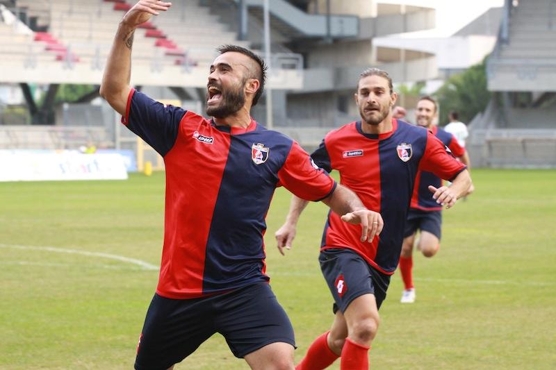 Samb-Castelfidardo 2-1, Borghetti esulta