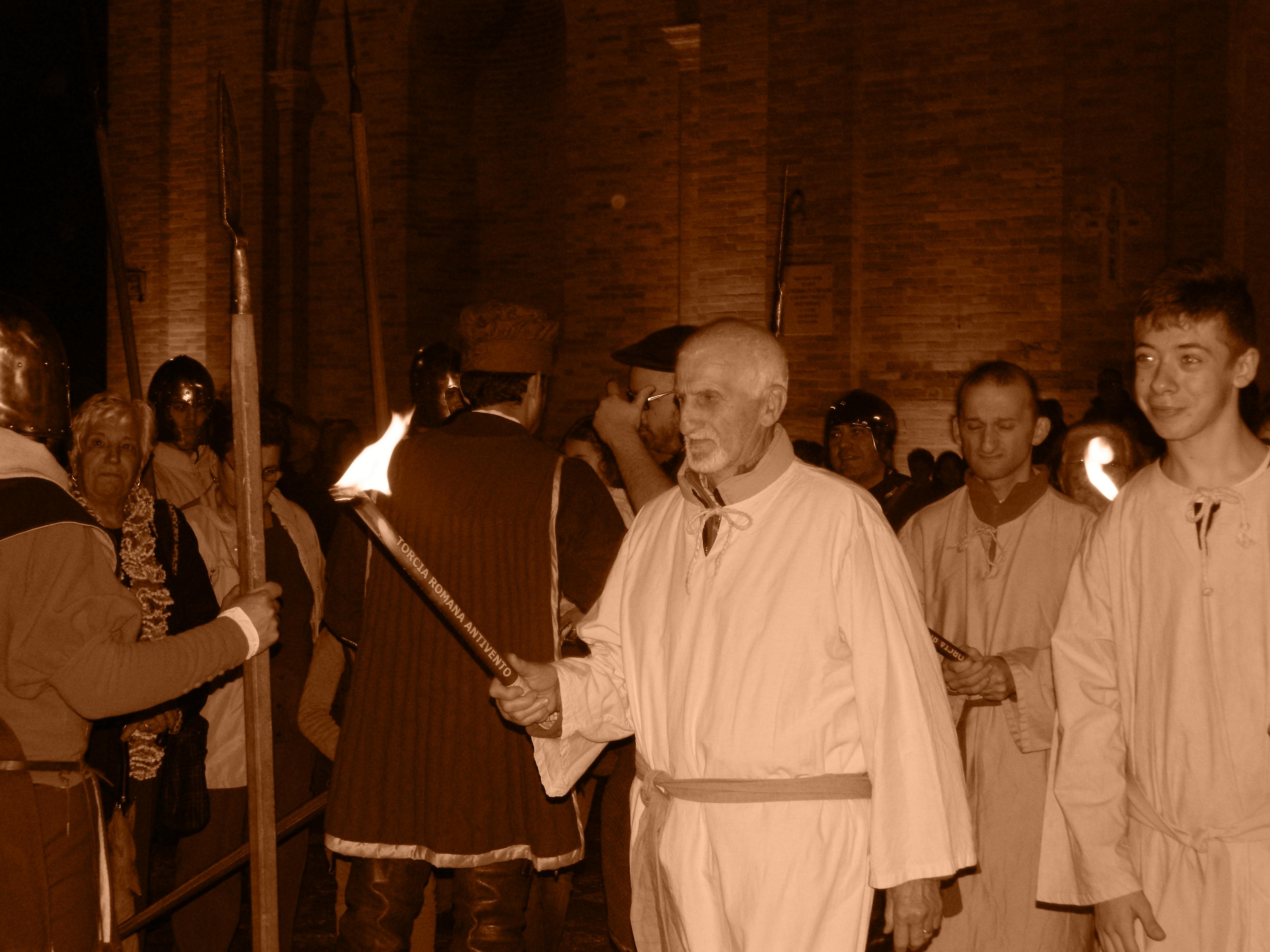 San Martino, con i figuranti di Lapedona