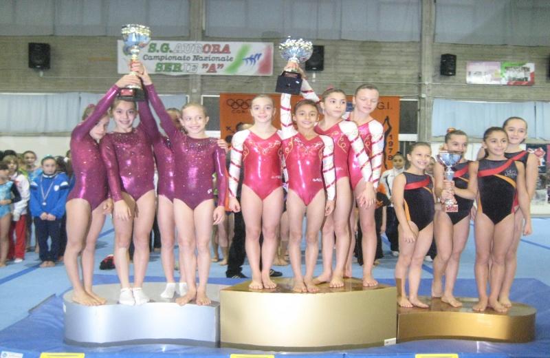 Le ragazze della World Sporting Accademy sul podio