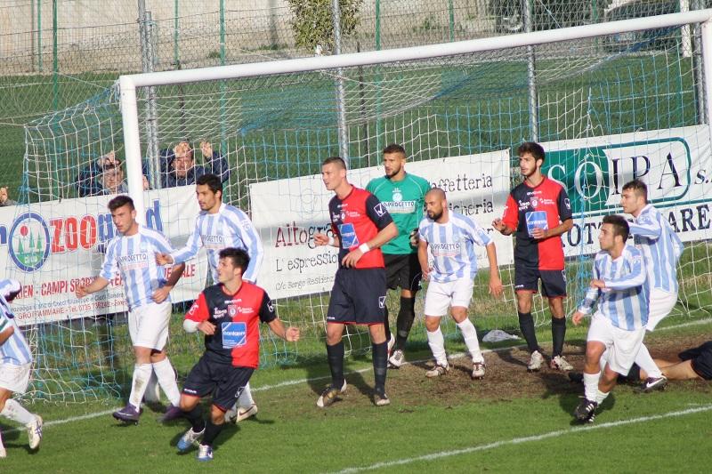 Un mmagine della partita Grottammare-Vigor Senigallia 1-2