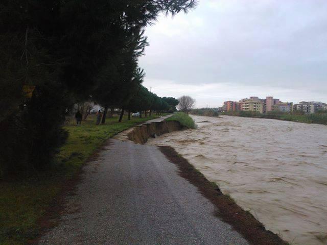 la difficile situazione del fiume Vibrata dopo le recenti ondate di maltempo