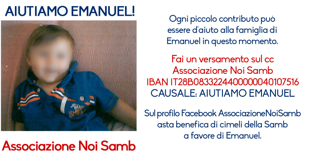 Aiutiamo Emanuel dall'associazione Noi Samb