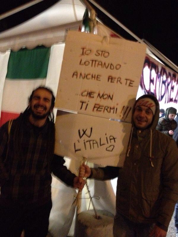 Fermiamo l'Italia, notte del 9 dicembre casello a14 San Benedetto