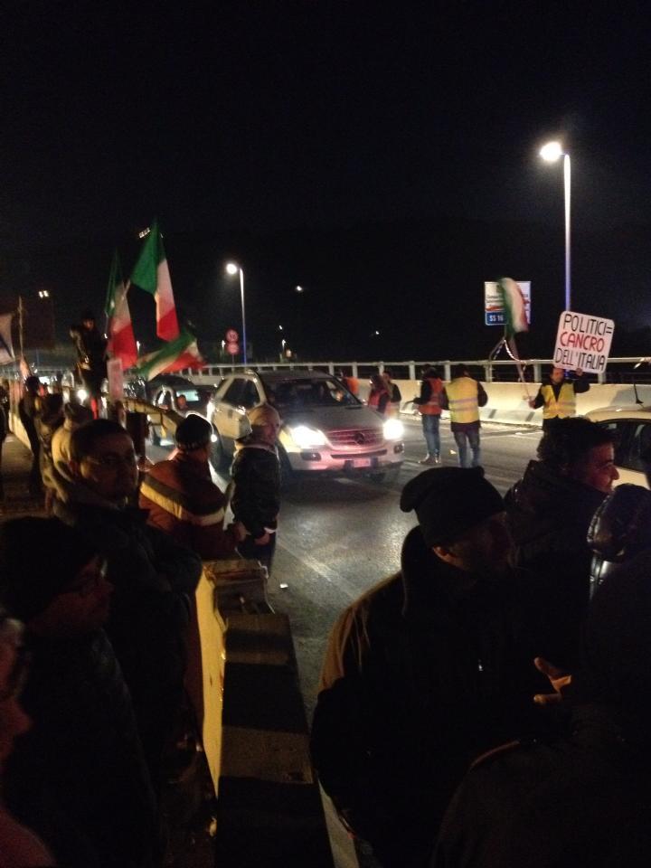 Forconi sul ponte del Tronto, 11 dicembre 2013