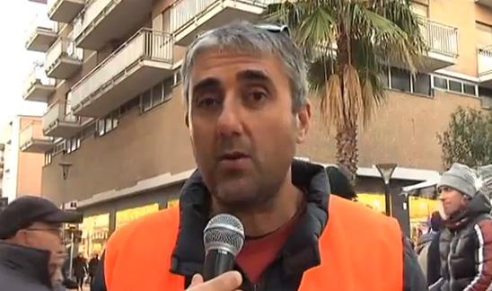Glauco Filesi, un attivista del Coordinamento 9 dicembre