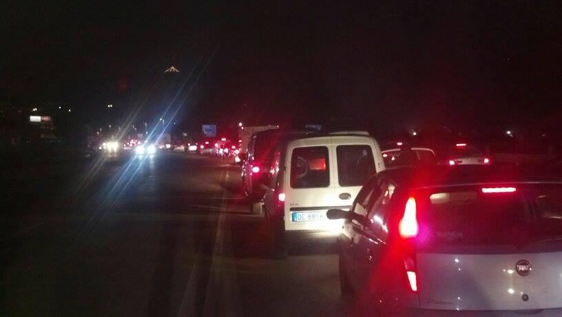 Traffico in tilt sul Tronto