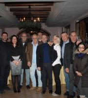 """Alcuni giornalisti ospiti del ristorante """"La Piazzetta"""""""