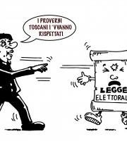 renzi contro legge elettorale (vignetta Evo)