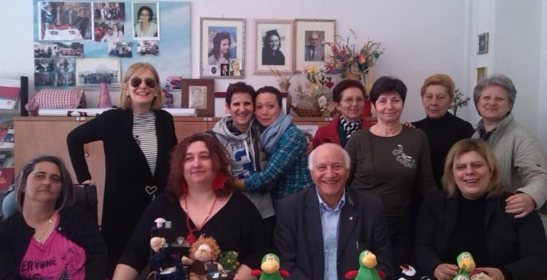 L'A.I.S.M. con le organizzatrici del Piceno Fashion Dolls