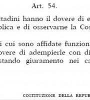 Articolo 54 della Costituzione Italiana