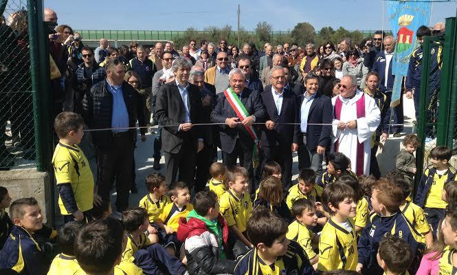 Inaugurazione campo sportivo Fratelli Veccia, 30 marzo 2014