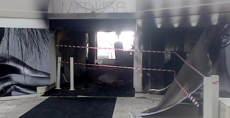 Incendio alla Medusa la notte tra 9 e 10 marzo