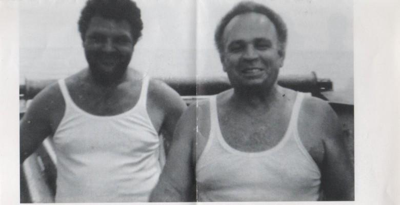 Luigi Murani con un suo collega