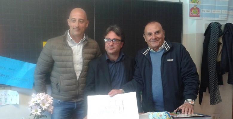 Nella foto, da sinistra, Sebino Ortu,Antonio Pompili e il suo vice Antonio Bruni