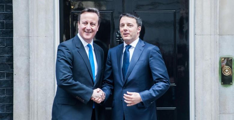 Londra, Renzi incontra Cameron a Downing Street
