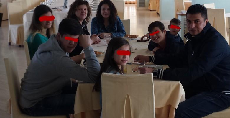 Luigi Appierto con la sua famiglia