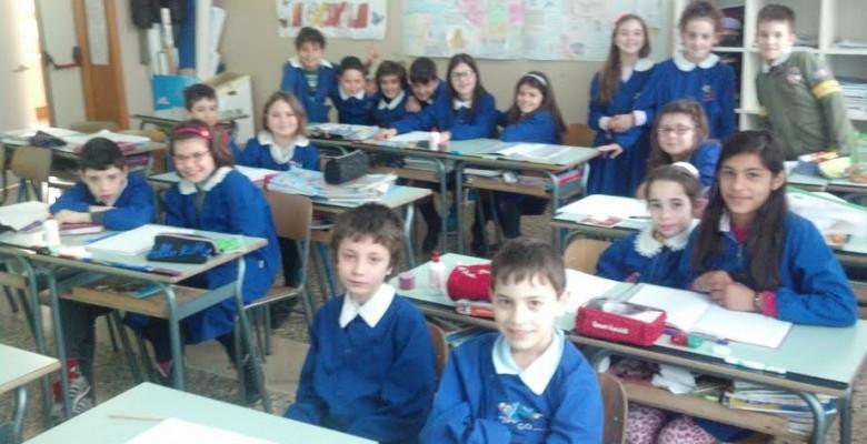 La classe 4 A della scuola Moretti