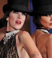 Lucy Lady Ville e Mizi Mia Grand' Ame. artiste di burlesque (fonte lafucinadelcirco wordpress)