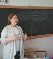 Giulia Ciriaci intervistata alla scuola Miscia
