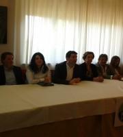 Stefano Stracci insieme ai candidati consiglieri