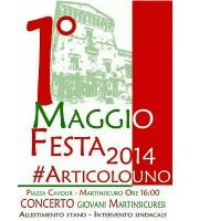 la locandina del 1 maggio in piazza Cavour