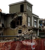 Villa Petrocchi dopo la parziale demolizione