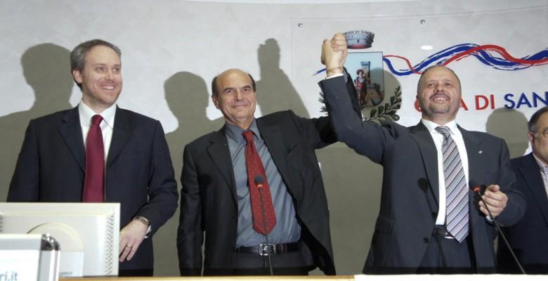 Di Francesco e Gaspari con Bersani