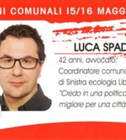 Biglietto elettorale di Luca Spadoni