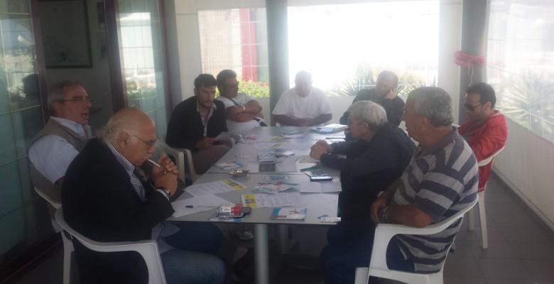 Un momento della conferenza stampa di ieri presso la Stella Marina di Giuseppe Ricci