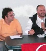 Luca Spadoni e Giovanni Gaspari in una foto d'archivio