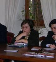 Merli, Gobbi e Piergallini in una foto d'archivio