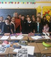 Maria Rita Massetti  nella classe quinta del plesso Ragnola, Isc Centro di San Benedetto