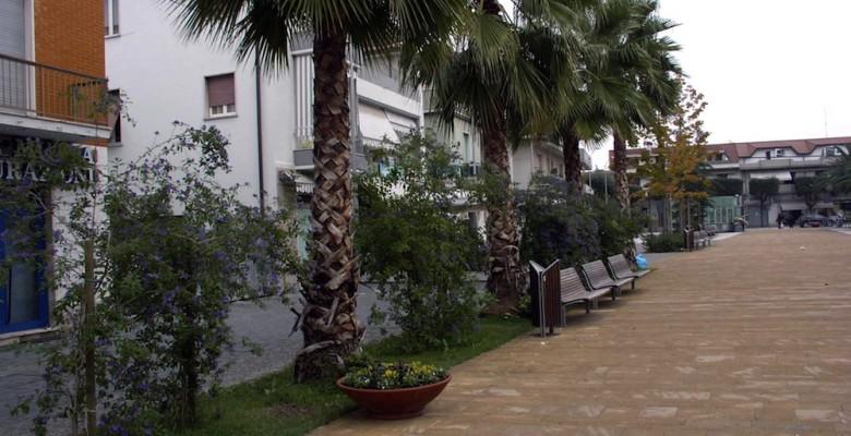 Piazza Cavour a Martinsicuro